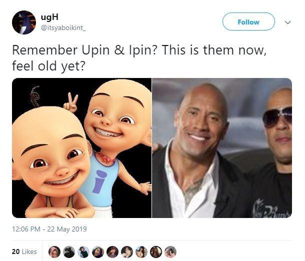 Meme Upin Ipin 6. (Twitter/ itsyaboikint_)