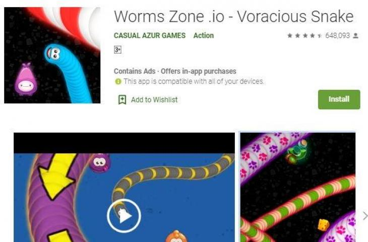 Ilustrasi game Worms Zone. (Play Store)