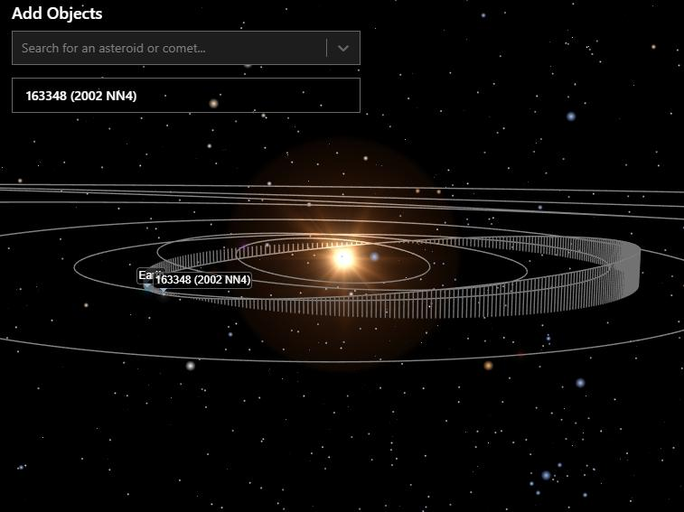 Asteroid 2002 NN4. (Spacereference)