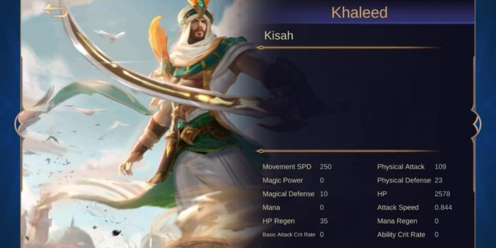 Khaleed, hero baru Mobile Legends. (HiTekno.com)