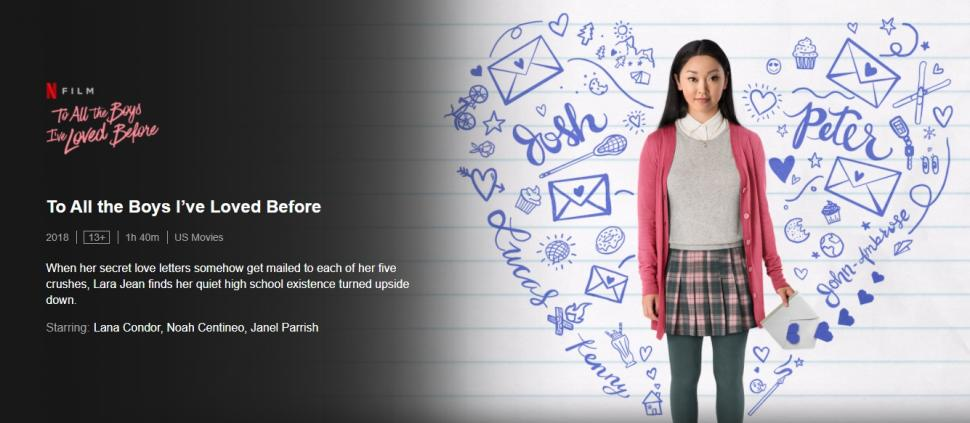 To All The Boys I've Loved Before. (Netflix)