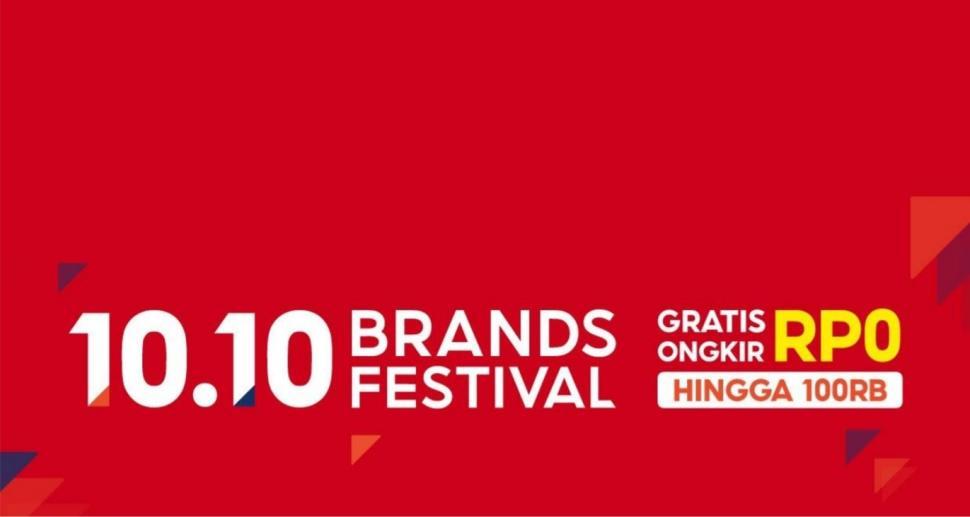 Shopee 10.10 Brands Festival Hadirkan Rangkaian 10 Promo Spesial. (Shopee)